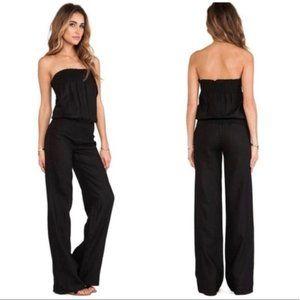 Young Fabulous & Broke Jill Wide Lg Linen Jumpsuit